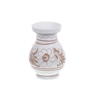 Vaza de ceramica alba de Corund 9,5 cm Model 1
