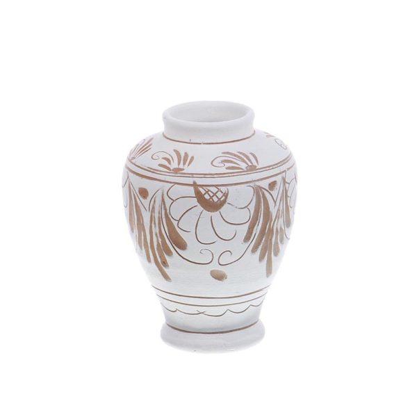 Vaza de ceramica alba de Corund 9,5 cm Model 3