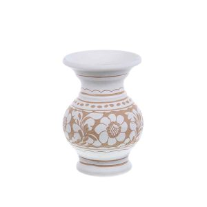 Vaza de ceramica alba de Corund 14,5 cm Model 2