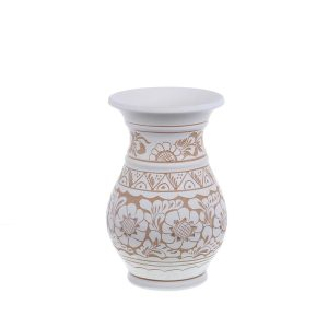 Vaza de ceramica alba de Corund 22 cm Model 1