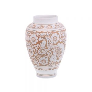 Vaza de ceramica alba de Corund 25 cm Model 2