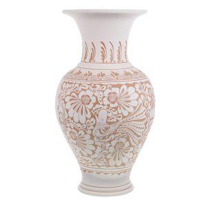 Vaza de ceramica alba de Corund 48 cm