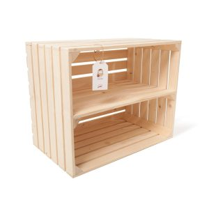 "Ladita din lemn de brad cu separator 50 x 40 x 30 cm ""Dochia"""