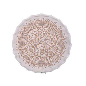 Farfurie traditionala ceramica alba de Corund 30 cm