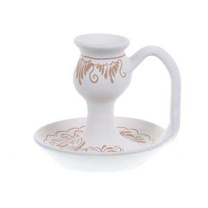 Sfesnic ceramica alba de Corund 11 cm Model 1