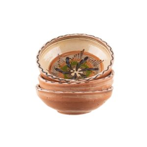 Set 3 boluri din ceramică de Horezu 13 cm