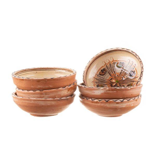 Set 6 boluri din ceramică de Horezu 13 cm
