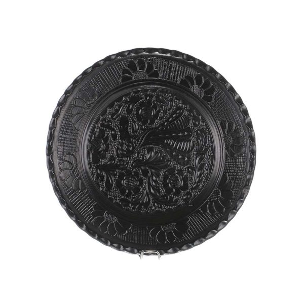 Farfurie traditionala ceramica neagra de Corund 24 cm