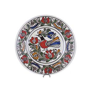 Farfurie traditionala ceramica colorata de Corund 21 cm