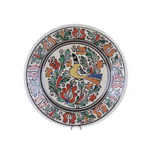 Farfurie traditionala ceramica colorata de Corund 24 cm