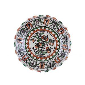 Farfurie traditionala ceramica colorata de Corund 26 cm - DIVERSE MODELE