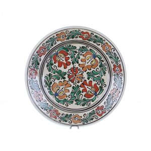 Farfurie traditionala ceramica colorata de Corund 29 cm