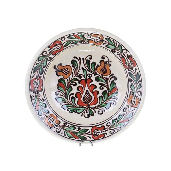Farfurie adanca ceramica colorata de Corund 21 cm