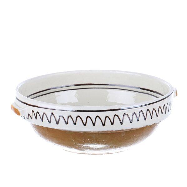 Castron cu manere ceramica traditionala Corund 26 cm