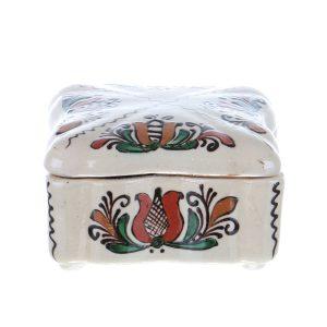 Bomboniera patrata ceramica Corund