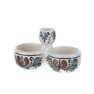 Solnita sare / piper ceramica colorata Corund