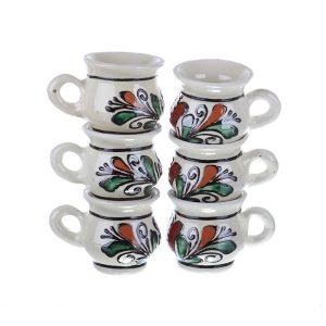 Set canute visinata ceramica colorata Corund 6 x 50 ml