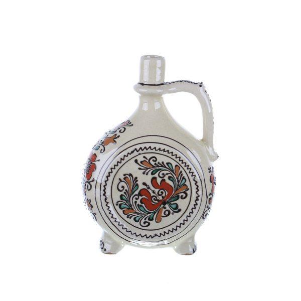 Plosca pentru vin / visinata ceramica colorata Corund 1 l