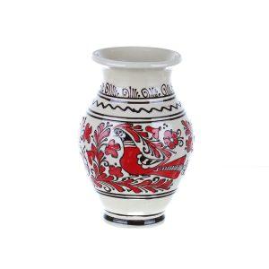 Vaza de ceramica rosie de Corund 22 cm