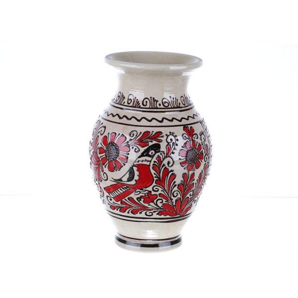 Vaza de ceramica rosie de Corund 26 cm