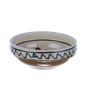 Castronel ceramica traditionala rosie Corund 10 cm