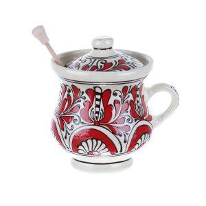 Vas Miere ceramica rosie de Corund 500 ml