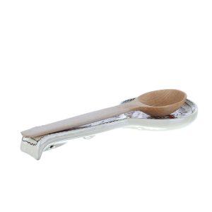 Suport lingura / paleta amestecat mancare ceramica rosie de Corund
