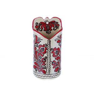 Suport linguri / palete agatat perete ceramica rosie Corund