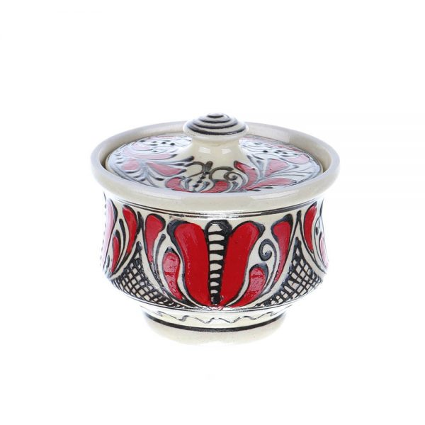 Recipient zahar ceramica rosie de Corund