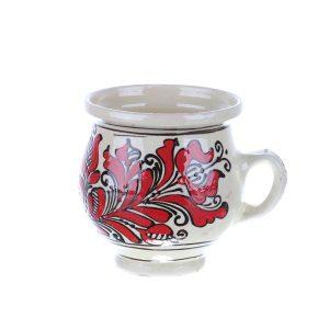 Ceasca vin / ceai / cafea ceramica rosie de Corund 300 ml