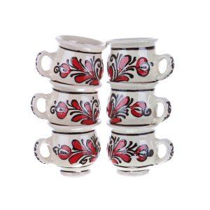 Set canute visinata ceramica rosie de Corund 6 x 50 ml