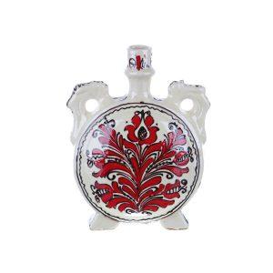 Plosca pentru vin / visinata ceramica rosie de Corund 1 l