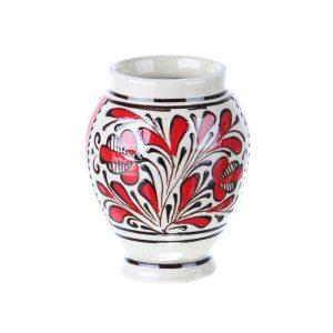 Vaza ceramica rosie de Corund 10 cm