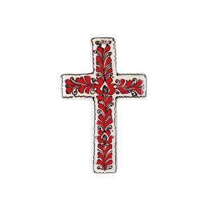 Cruce Ceramica rosie de Corund