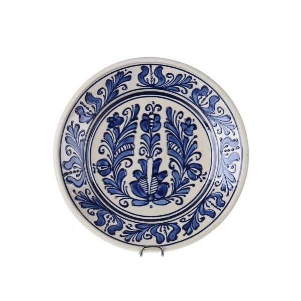 Farfurie traditionala ceramica albastra de Corund 19 cm