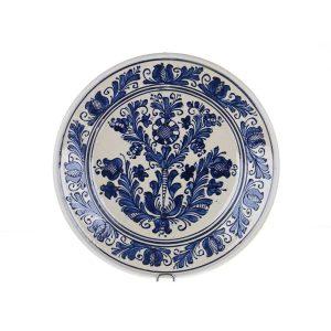Farfurie traditionala ceramica albastra de Corund 29 cm