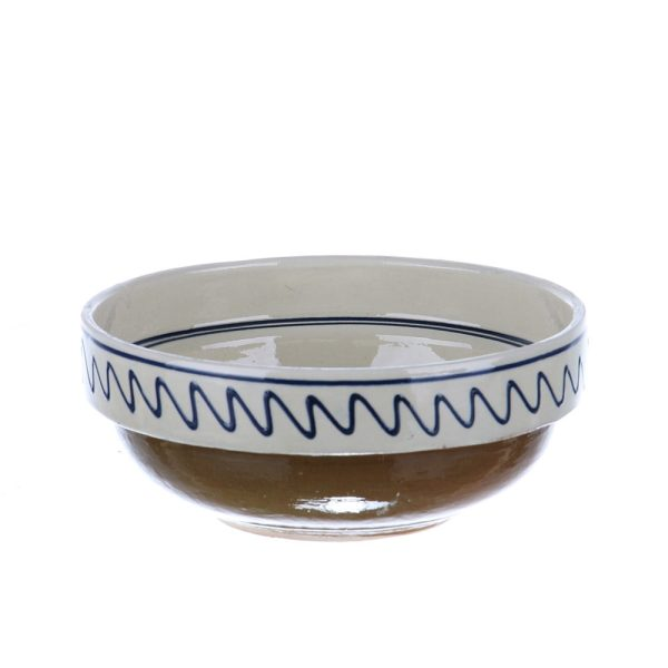 Castron ceramica traditionala albastra de Corund 16 cm Model 1