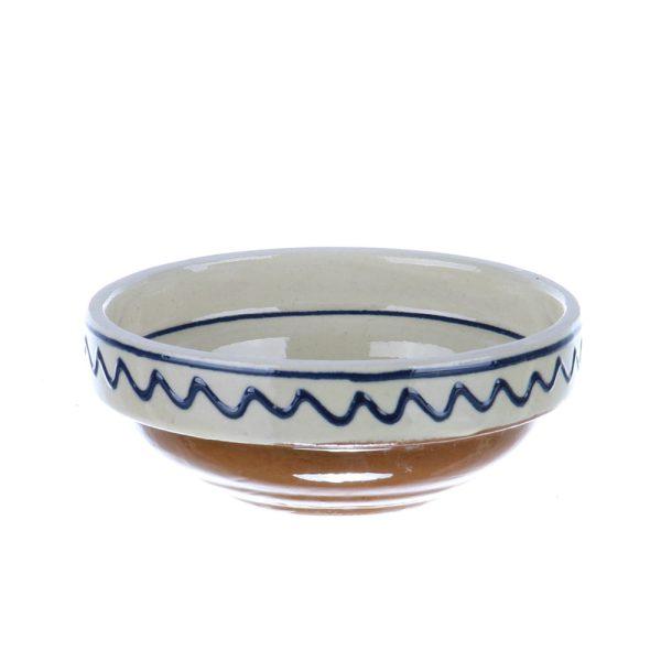 Castronel ceramica traditionala albastra de Corund 10 cm