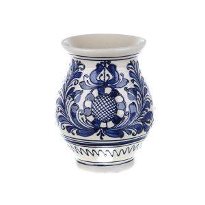 Vaza ceramica albastra de Corund 16 cm