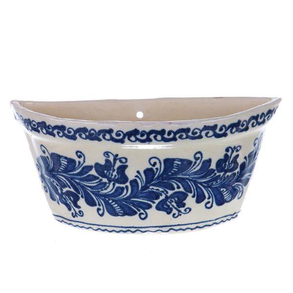 Vas aromaterapie agatat calorifer ceramica albastra de Corund