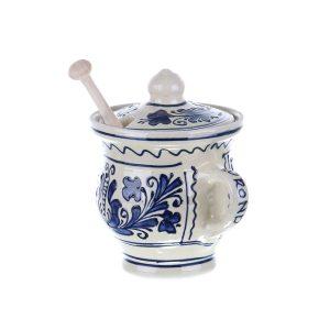 Vas Miere ceramica albastra de 350 ml