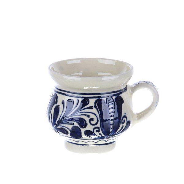 Ceasca vin / ceai / cafea ceramica albastra de Corund 300 ml