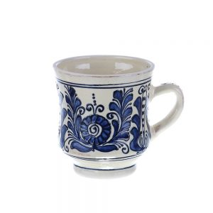 Halba bere ceramica albastra de Corund 500 ml