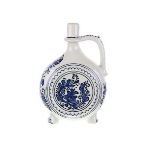 Plosca pentru vin / visinata ceramica albastra de Corund 1 l