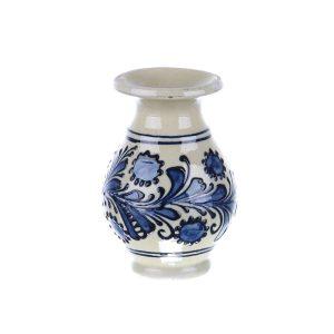 Vaza ceramica albastra de Corund 10 cm