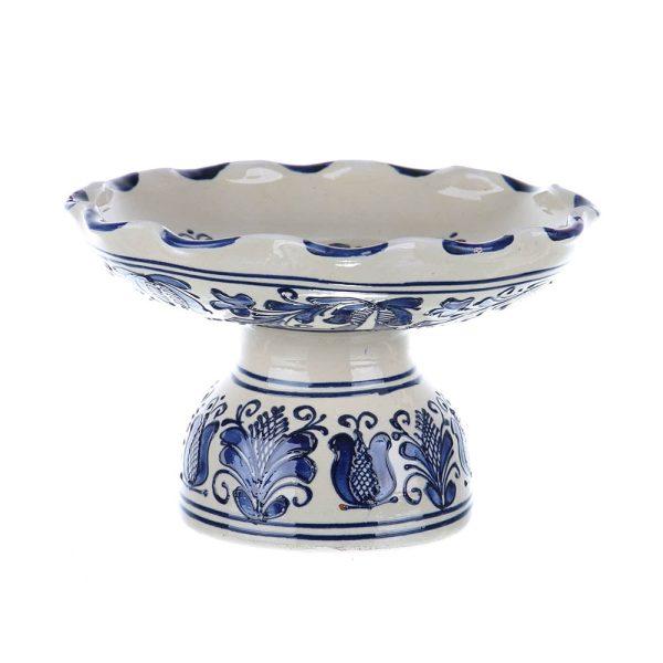 Fructiera din ceramica albastra de Corund