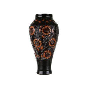 Vaza ceramica maro de Corund 60 cm
