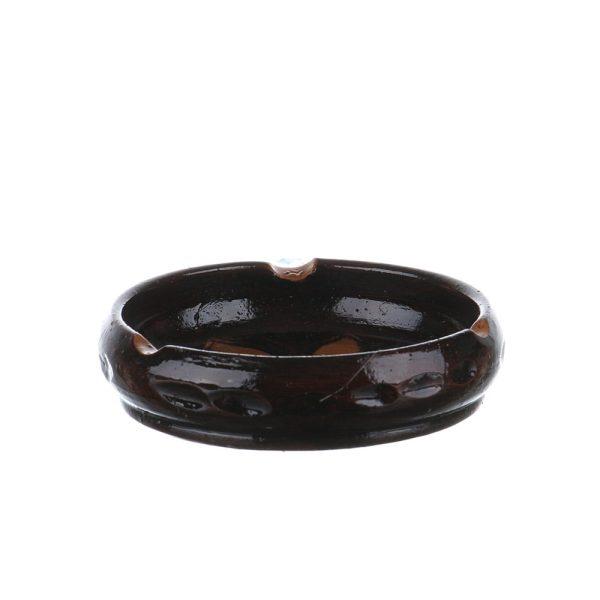 Scrumiera ceramica maro de Corund 11 cm