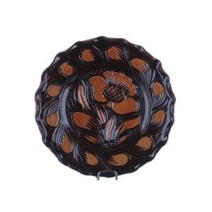 Farfurie ceramica maro de Corund 16 cm