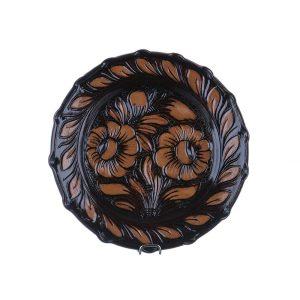 Farfurie ceramica maro de Corund 21 cm